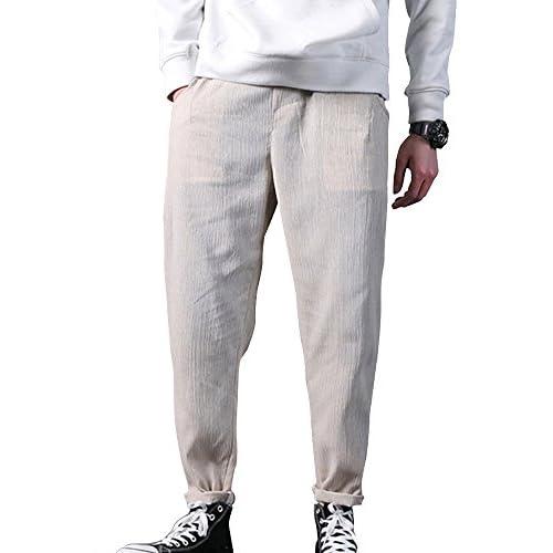 De bajo costo ShiFan Pantalón Lino Para Hombre Baggy Casual Harem Pantalones  Ropa Etnica f9a7ad22f7d5