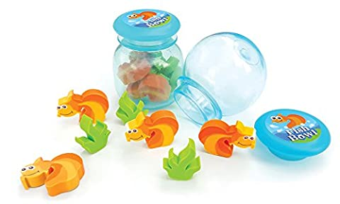 The Piggy Story 'Sea Friends' Tiny Erasers in Fishbowl Package - 2-Pack - Fish Eraser