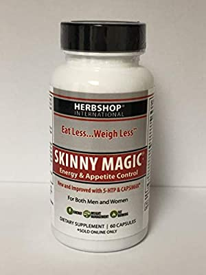 SKINNY MAGIC - Fast Acting - Thermogenic Weight Loss, Increased Metabolism & Energy Booster for Women & Men - Appetite Suppressant & Sugar Cravings - 60 Capsules (1 to 2 Month Supply)