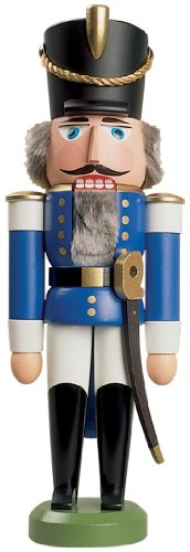 - Seiffener Volkskunst German nutcracker King blue, height 29 cm / 11 inch, original Erzgebirge by SV 11301/2