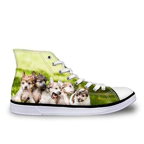 Lona Cordones Nopersonality Pet Pattern1 Zapatos Dog para Mujer de de vqxHIO