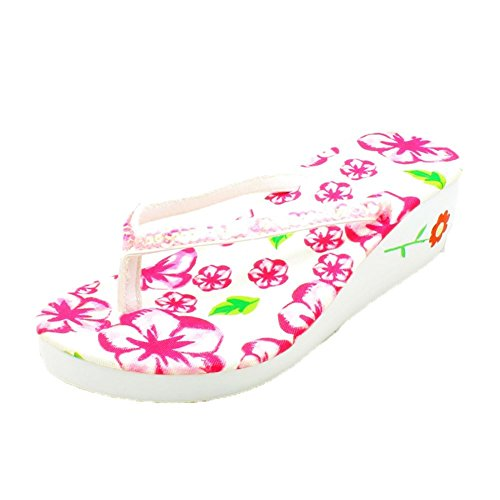 sequined Ladies with heel Purple foam strap flip flops wedge AqzAwv