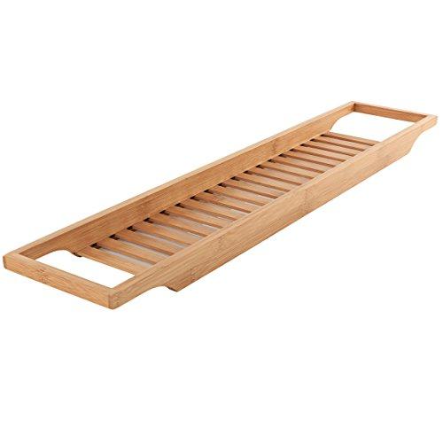Torrex 30541 Badewannenregal aus Bambus in 2 verschiedenen Größen Badewannenablage (74 x 15 x 3,5 cm)