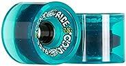 Cloud Ride! Wheels Cruiser 69mm 78A Longboard Wheels, Clear Turquoise