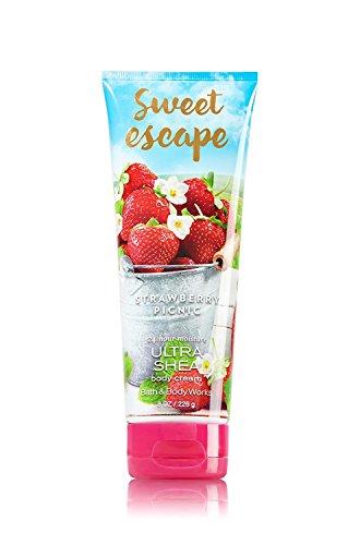 Bath & Body Works Sweet Escape Strawberry Picnic 8.0 Oz Ultra Shea Body Cream, 8 Ounce