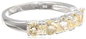 Sterling Silver Genuine Citrine Ring, Size 7