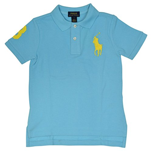 Polo Ralph Lauren Little Boys' Big Pony Mesh Polo Shirt - 3/3T - French Turquoise - Ralph Lauren Polo Shirts Kids