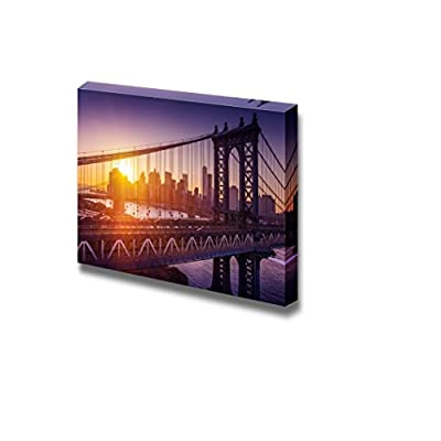 New York City Sunset Over Manhattan with Bridge, Created Just For You, Alluring Handicraft