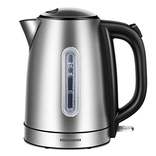 REDMOND Electric Kettle, 1.7L Stainless Steel Tea Kettle with 1500W Fast Boiling Heater, Cordless Hot Water Kettle BPA-Free with Auto Shut-Off & Boil Dry Protection, EK005