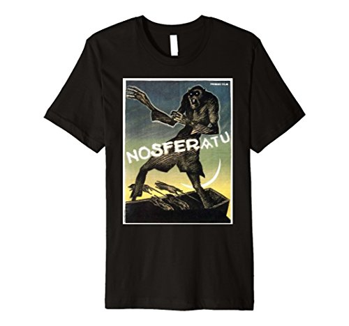 Vintage Movie T-shirts (Mens Nosferatu Vintage Movie Poster T Shirt Small Black)
