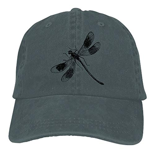 - Unisex Denim Dad Hat Adjustable Plain Cap Dragonflies Style Gift for Men Women