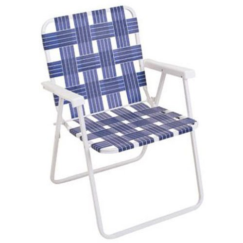 Rio Brands BY055-0138 Web Fold Chair, Blue