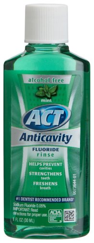 ACT Anticavity Rinse,Trial Size, Mint, 1-Ounce Bottle (Pack of 48)