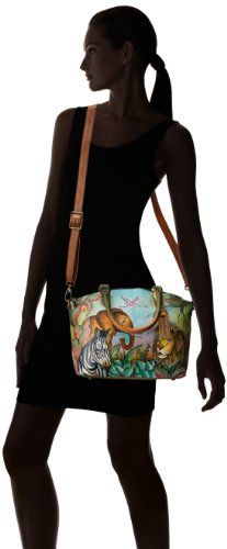 Anuschka Hand-Painted Leather Medium Convertible Satchel | Top Handle Shoulder Bag/Purse | African Adventure by Anuschka (Image #6)
