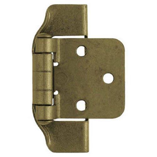 Liberty H01915L-AE-U 1/2-Inch Semi-Wrap Overlay Hinge, 2-Pack
