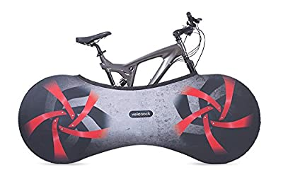 Velo Sock bicycle cover for bike storage indoors, Firebird