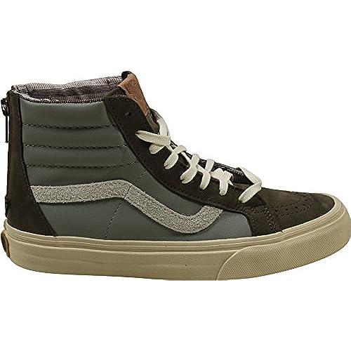 9bffe14ed47119 70%OFF Vans Sk8-Hi Zip Sneakers (Leather Nubuck Suede) Brown Women s ...