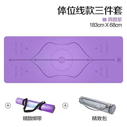 YOOMAT 5mm Kautschuk Yogamatte Männliche und Weibliche Fitness Matte professionelle Erweiterung 68 Rutschfeste Yogamatte Boden Pads