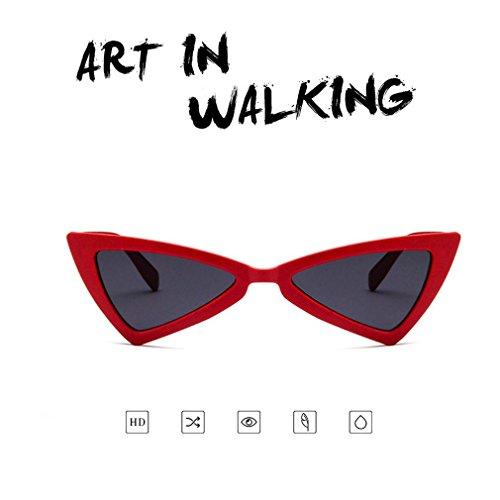 gato de de de ojo de sol Gafas gafas UV400 de para diseño viaje triángulo sol mujer nW8p7Fq0a