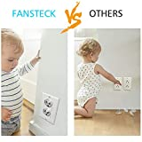 Outlet Covers Clear Baby Proofing - Fansteck Outlet Covers for Baby Safety - 50 Pack Plug Covers + 5 Keys