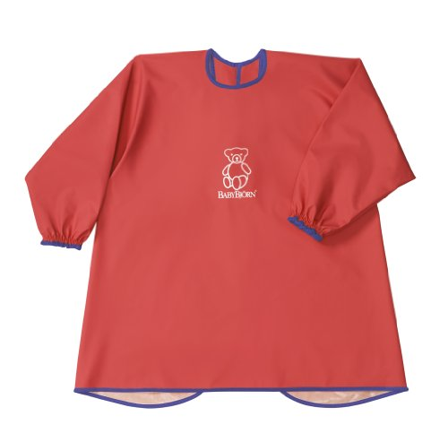 BABYBJORN Eat Play Smock Red