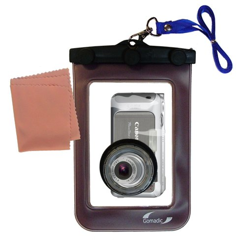UPC 842623846609, Gomadic Waterproof Camera Protective Bag suitable for the Canon PowerShot A460 - Unique Floating Design Keeps Camera Clean and Dry