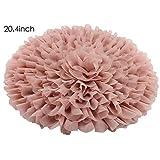Handcraft Soft Chiffon Round Flower Blanket Newborn Photography Props 20.4inch