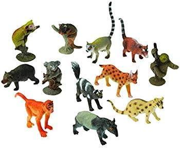 Figura De Plástico SAFARI Animales Juego de 7 grande y variada animales 2 Árboles Nuevo Y En Caja