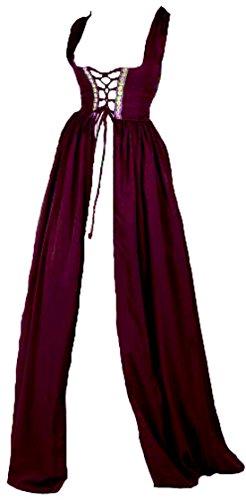 Renaissance Irish Over Dress (2XL/3XL, Burgundy)]()