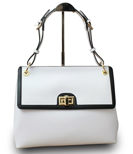 Medio Borsa a My Bianco Musthave Musthave My bianco mano donna OzZ1fBxw