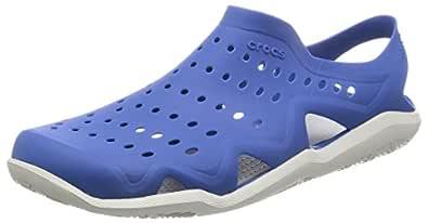 Crocs Men's Swiftwater Wave Shoe, Blue Jean/Pearl White, M6