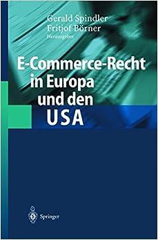 Book E-Commerce-Recht in Europa und den USA (German Edition)