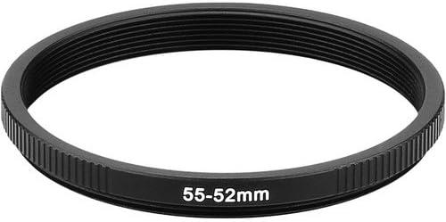 3 Pack Sensei PRO 55mm Lens to 52mm Filter Aluminum Step-Down Ring
