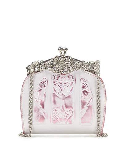 - Patricia Nash Rosaria Tooled Metallic White/Pink bag