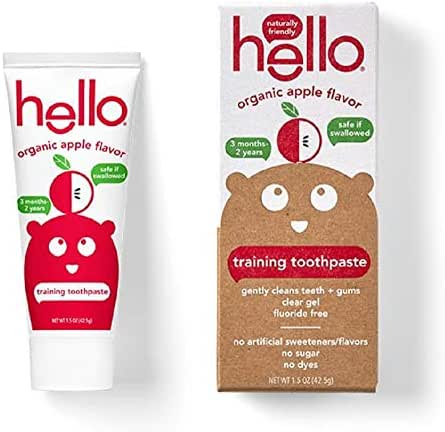 Hello Oral Care Kids Toothpaste … (2 Count, Organic Apple)