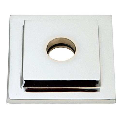(Kingston Brass FLSQUARE1 Legacy Heavy Duty Square Solid Cast Brass Shower Flange, Polished Chrome)