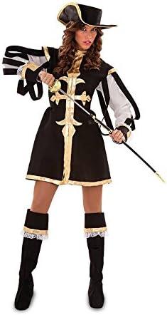 Disfraz de Mosquetera negra para mujer talla M-L: Amazon.es ...