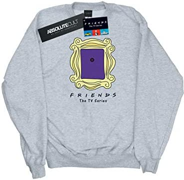 Absolute Cult Friends Herren Door Peephole Sweatshirt Sport Grau Small