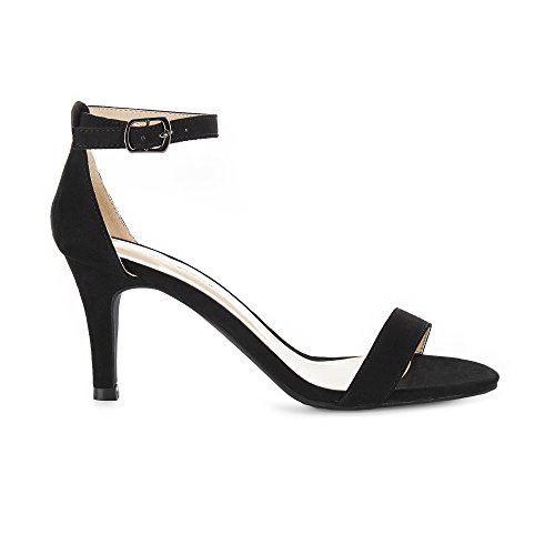 Image of Eunicer Women's High Heel Stiletto Sandals Ankle Strap Wedding Party Shoes (Half Size Large)