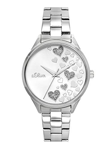 s.Oliver Time Womens Analogue Quartz Watch with Stainless Steel Strap SO-3599-MQ