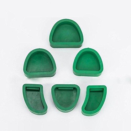 6pcs Dental Silicone Plaster Model Former Base Molds Impression Material Mould
