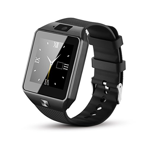 Fantime Sw-08 All in One Bluetooth Smart Watch Phone, Wrist Watch Phone with SIM Card for Android, Apple Iphone 5s/6/6s and Other Smart Phones (BLACK)