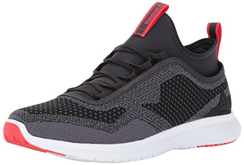 Reebok Men's Plus Runner Ultk Running Shoe, Coal/Ash Grey/Glow Red/White, 9 M US