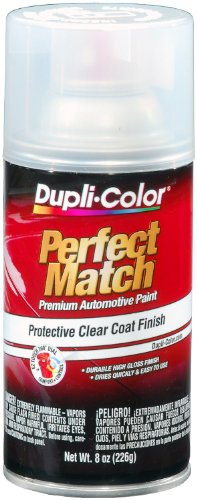 : Dupli-Color EBCL01257 Clear Perfect Match Automotive Top Coat - 8 oz. Aerosol, (Case of 6)