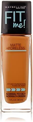 Maybelline New York Fit Me Matte Plus Poreless Foundation Makeup, Coconut # 355, 1 Fluid Ounce