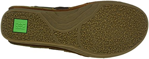 El Naturalista Nf84 Soft Grain Wood-Brown-Kaki/Rice Field, Mocassini Donna, Multicolore (Wood-Brown-Kaki NV9), 36 EU
