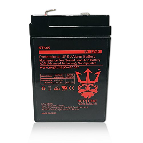 Price comparison product image 3FM4.5 6 Volt 4.5 AmpH SLA Replacement Battery with F1 Terminal