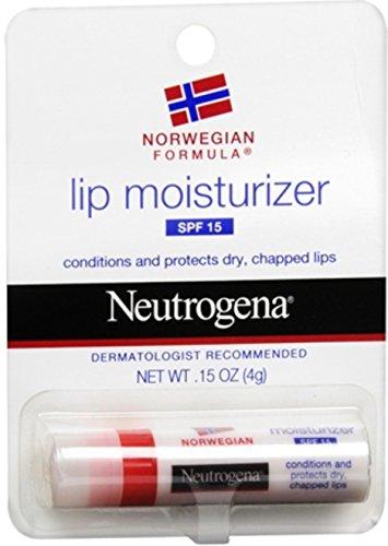Neutrogena Norwegian Formula Lip Moisturizer, SPF 15, 0.15 Ounce Pack of 8