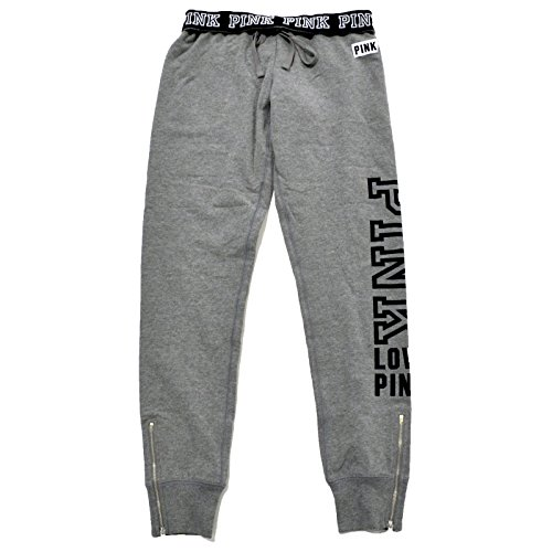 Price comparison product image Victoria's Secret Pink Sweatpant Gym Pants (Large, Heather Grey)