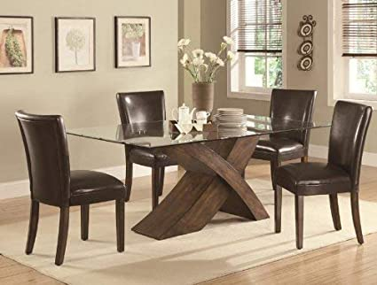 Amazoncom Coaster 103051 Co Nessa Large Scaled X Base Dining